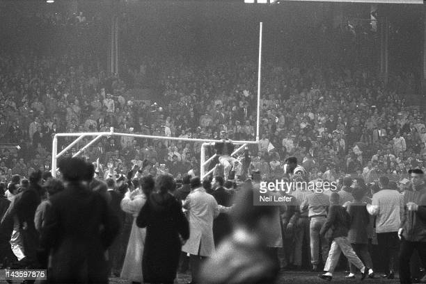 NFL Championship View of fans victorious on field after Baltimore Colts vs New York Giants game at Memorial Stadium Baltimore MD CREDIT Neil Leifer