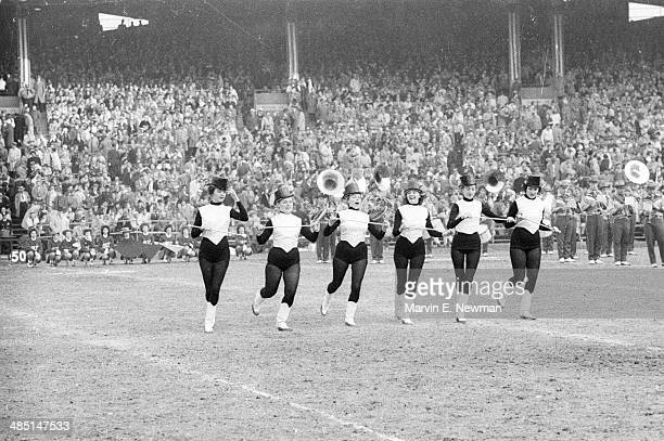 NFL Championship View of twirlers during Baltimore Colts vs New York Giants game at Memorial Stadium Baltimore MD CREDIT Marvin E Newman