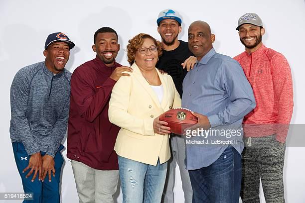 NFL Draft Family portrait of Chicago Bears cornerback Kyle Fuller former Virginia Tech defensive back Kendall Fuller Nina DorseyFuller Detroit Lions...