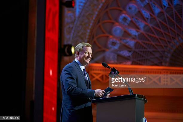 NFL Draft NFL commissioner at podium on stage during selection process at Auditorium Theatre of Roosevelt University Chicago IL CREDIT Tom Lynn