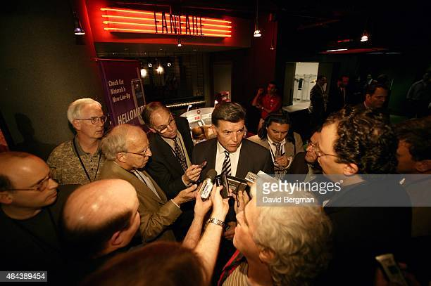 NFL Draft Tom Condon agent for University of Mississippi QB Eli Manning speaks with members of the media during selection process at Madison Square...