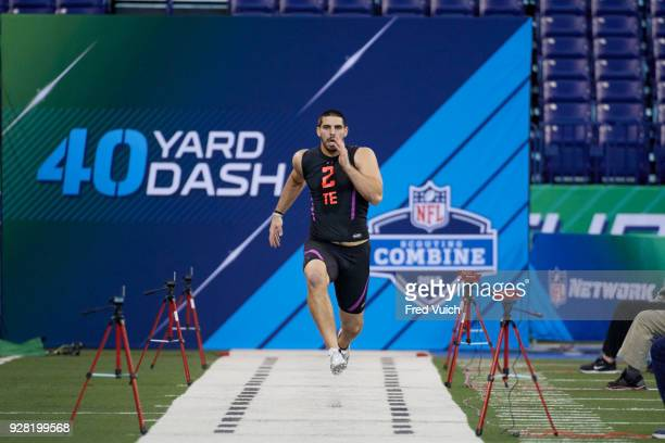 NFL Scouting Combine Oklahoma Mark Andrews in action during 40yard dash drill at Lucas Oil Stadium Indianapolis IN CREDIT Fred Vuich