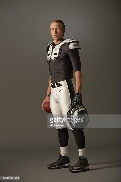 NFL Season Preview Portrait of Philadelphia Eagles QB Nick Foles during photo shoot at NovaCare Complex Philadelphia PA CREDIT Al Tielemans