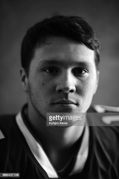 Rookie Premiere: Closeup portrait of Buffalo Bills QB Josh Allen posing during photo shoot at California Lutheran University. Thousand Oaks, CA...