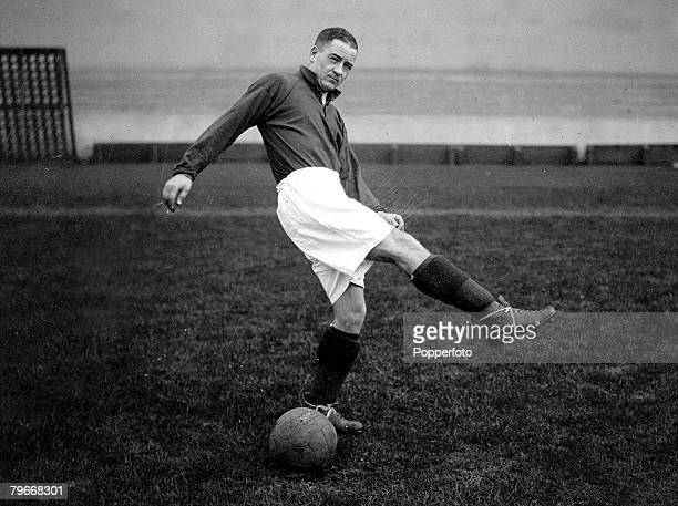 Football November Arsenal footballer Alex James practices during training