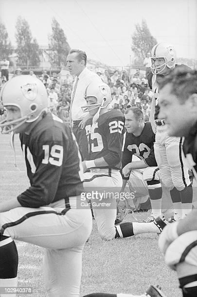 Oakland Raiders coach Al Davis on sidelines during game vs Buffalo Bills Oakland CA 9/15/1963 CREDIT Curt Gunther