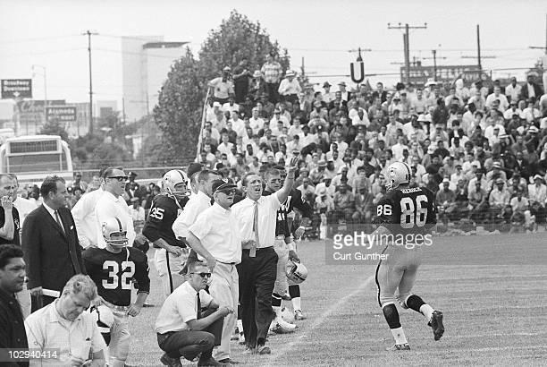 Oakland Raiders coach Al Davis on sidelines during game vs Buffalo Bills. Oakland, CA 9/15/1963 CREDIT: Curt Gunther