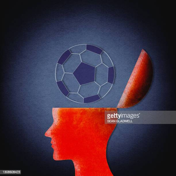 football obsession illustration - soccer competition stock pictures, royalty-free photos & images