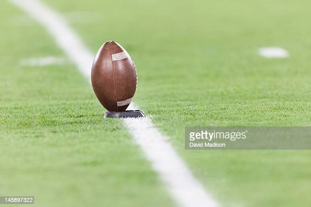 football on a tee - kick off stock pictures, royalty-free photos & images