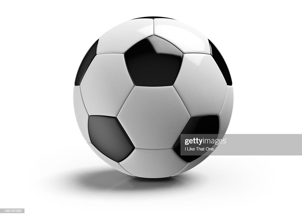 Football on a white background : Stock-Foto
