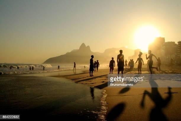 Football on Ipanema Beach