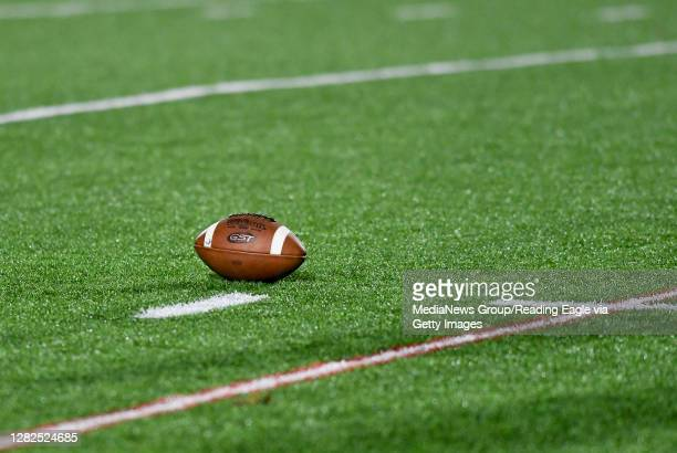 Football on the field. High School Football, the Wyomissing Area Spartans vs the Schuylkill Valley Panthers at Schuylkill Valley Friday night October...