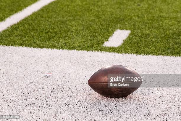 NFL football on the sideline during a football game between Cleveland Browns and Buffalo Bills on November 30 2014 at Ralph Wilson Stadium in Orchard...