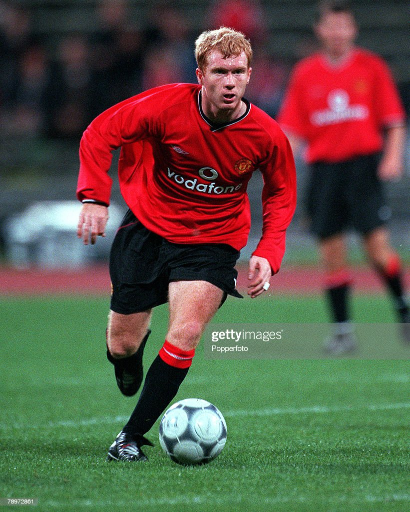 Football. Opel Masters 2000 Tournament. Munich, Germany. Real Madrid 0 v Manchester United 1.4th August 2000. Paul Scholes, Manchester United. : News Photo