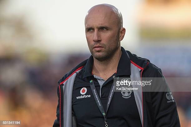 Football Operations Manager Dan Floyd of the Warriors looks on prior to the round 10 NRL match between the Penrith Panthers and the New Zealand...