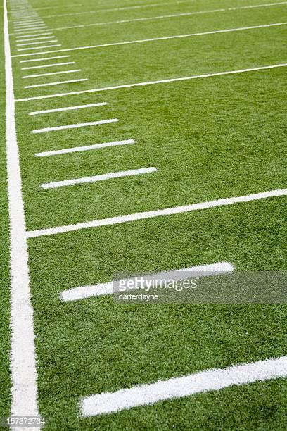 Football or soccer field line markings