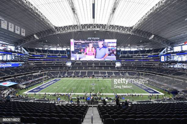 Overall view of ATT Stadium before Dallas Cowboys vs Green Bay Packers game Arlington TX CREDIT Greg Nelson