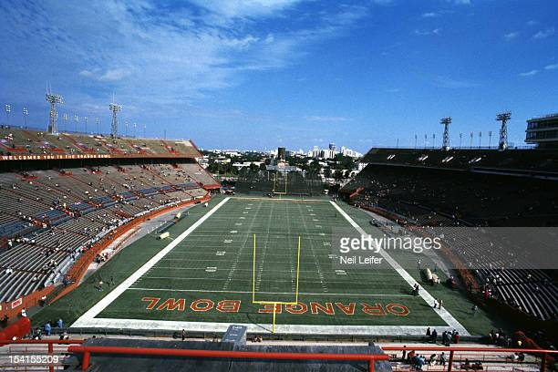 Overall view of Orange Bowl Stadium before Miami Dolphins vs Denver Broncos game Miami FL CREDIT Neil Leifer