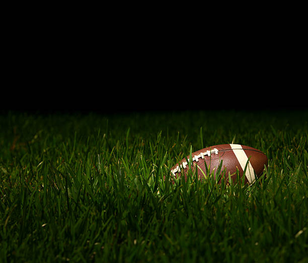 Football Overgrown with Grass