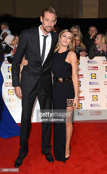 Football Peter Crouch and wife Abbey Clancy attend the Pride of Britain awards at The Grosvenor House Hotel on October 6 2014 in London England