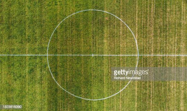 football pitch centre circle - club football stock pictures, royalty-free photos & images