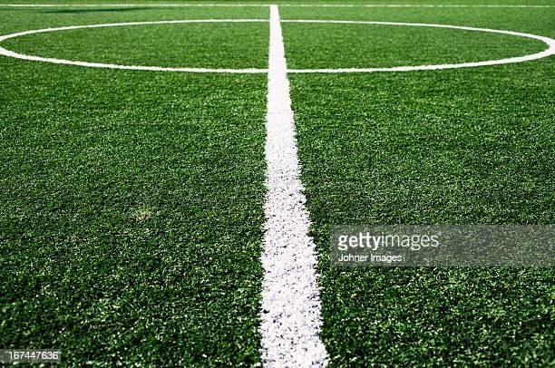 Football pitch markings, Sifnos, Greece.