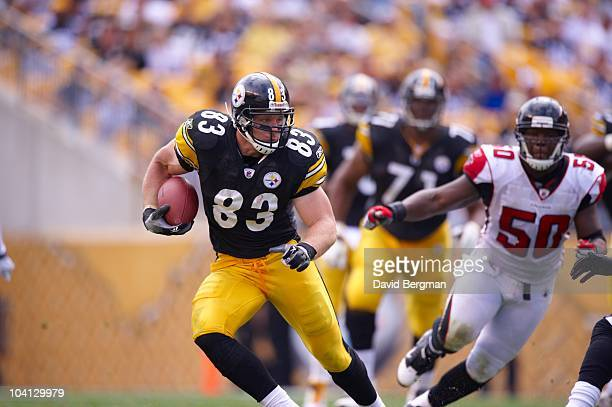 Pittsburgh Steelers Heath Miller in action vs Atlanta Falcons Pittsburgh PA 9/12/2010 CREDIT David Bergman