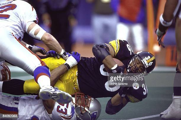 Pittsburgh Steelers Jerome Bettis in action vs New England Patriots Chris Slade Pittsburgh PA 1/3/1998 CREDIT John Iacono
