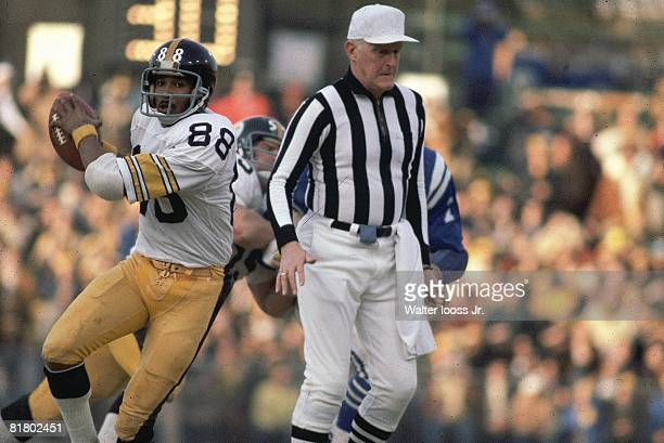 Football Pittsburgh Steelers Lynn Swann in action rushing vs Baltimore Colts Baltimore MD