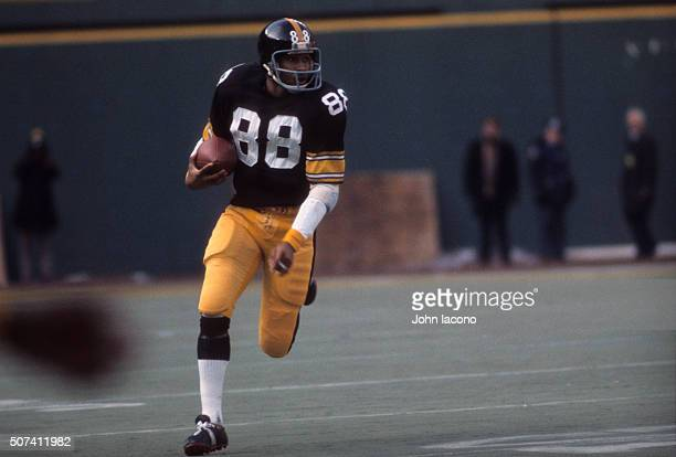 Pittsburgh Steelers Lynn Swann in action vs vs Buffalo Bills at Three Rivers Stadium Pittsburgh PA CREDIT John Iacono