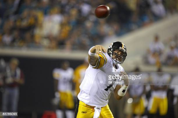 Pittsburgh Steelers QB Ben Roethlisberger in action pass vs Jacksonville Jaguars Jacksonville FL 10/5/2008 CREDIT Bill Frakes