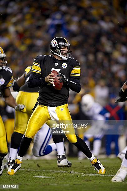 Pittsburgh Steelers QB Ben Roethlisberger in action vs Indianapolis Colts. Pittsburgh, PA 11/9/2008 CREDIT: John Biever