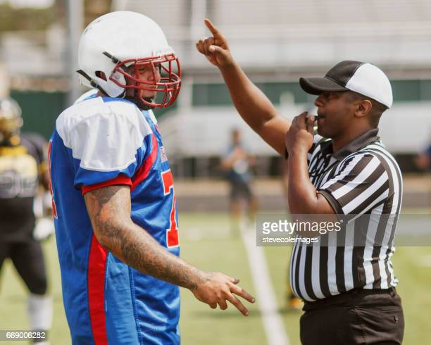 football planer and ref - american football referee stock pictures, royalty-free photos & images
