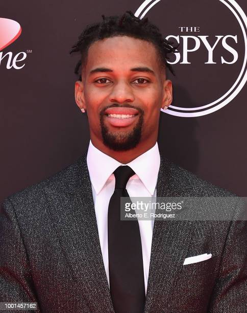 Football player AJ Bouye attends the 2018 ESPY Awards Red Carpet Show Live Celebrates With Moet Chandon at Microsoft Theater on July 18 2018 in Los...