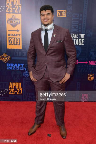 Football player Andre Dillard attends the 2019 NFL Draft on April 25 2019 in Nashville Tennessee