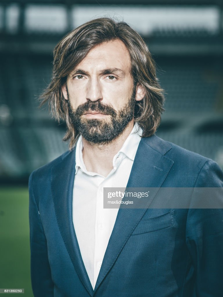 Football player Andrea Pirlo is photographed for Garnier, on April 11, 2014 in Turin, Italy.