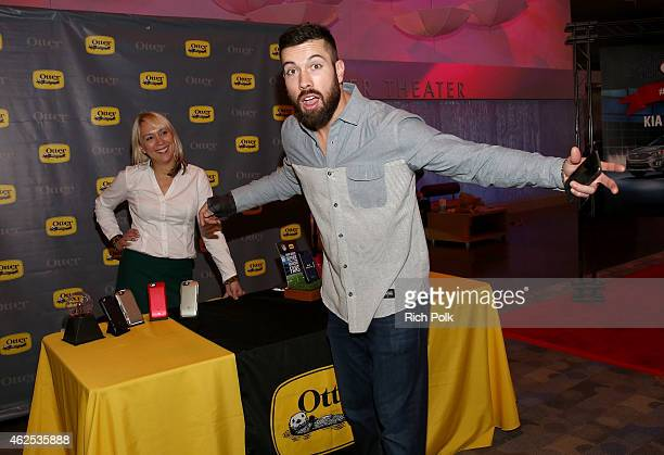 Football player Andrew Sendejo attends day one of the NY Toast Gifting Suite at Scottsdale Center for Performing Arts on January 30 2015 in...