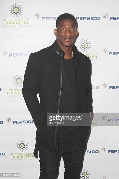 Football player Antrel Rolle attends PepsiCo Honors Bob Woodruff Foundation With Blake Shelton Concert from #PEPCITY at Bryant Park on January 31,...