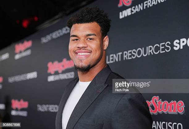 Football player Arik Armstead attends Rolling Stone Live SF with Talent Resources on February 6 2016 in San Francisco California