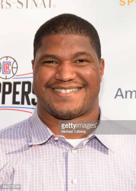 NFL football player Calais Campbell attends the 32nd Annual CedarsSinai Sports Spectacular Gala at W Los Angeles Westwood on April 3 2017 in Los...