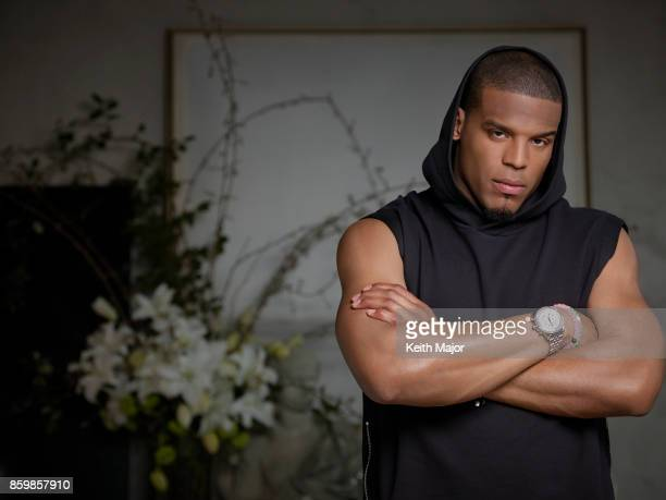 Football Player Cam Newton Is Photographed For Ebony Magazine On December   In New York