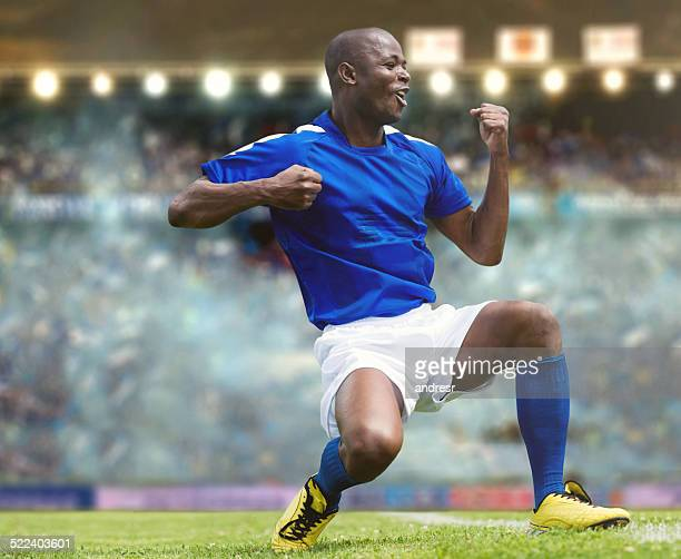 football player celebrating - scoring a goal stock pictures, royalty-free photos & images