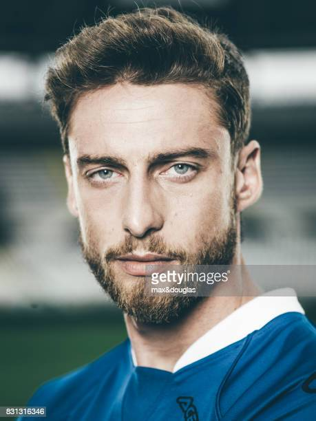 Football player Claudio Marchisio is photographed for Garnier on April 11 2014 in Turin Italy