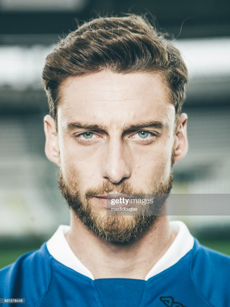 Football player Claudio Marchisio is photographed for Garnier, on April 11, 2014 in Turin, Italy.