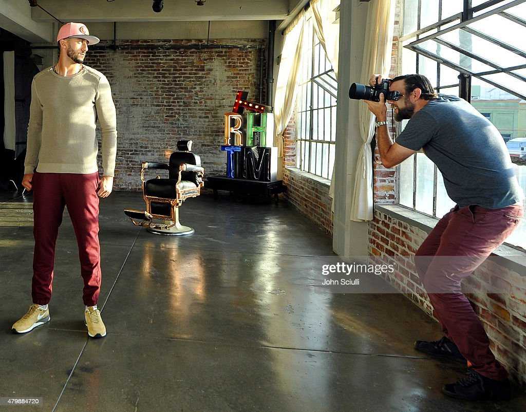 """Colin Kaepernick And New Era """"This is the Cap"""" Fall Campaign Shoot : News Photo"""