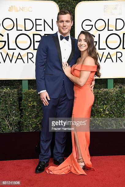 Football player Colton Underwood and gymnast Aly Raisman attend the 74th Annual Golden Globe Awards at The Beverly Hilton Hotel on January 8 2017 in...