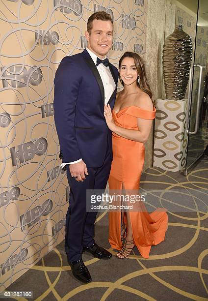 Football player Colton Underwood and gymnast Aly Raisman attends HBO's Official Golden Globe Awards After Party at Circa 55 Restaurant on January 8...