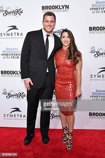 Football Player Colton Underwood and Olympic Gymnast Aly Raisman attend the Sports Illustrated Sportsperson of the Year Ceremony 2016 at Barclays...