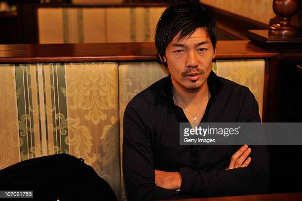 Football player Daisuke Matsui of FC Tom Tomsk during portrait session on October 29, 2010 in Tomsk, Russia.
