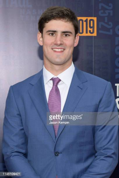 Football player Daniel Jones attends the 2019 NFL Draft on April 25 2019 in Nashville Tennessee